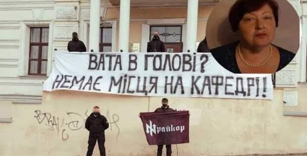 Укропатриоты затравили 72-летнюю преподавателя государственной академии наук