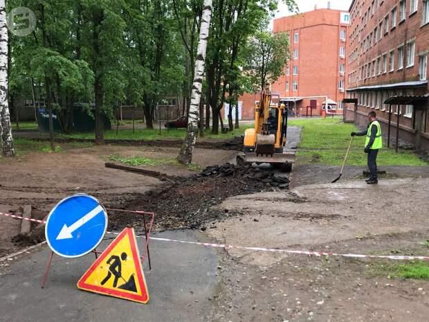 Работы по благоустройству проезда Студенческого начались в Ижевске