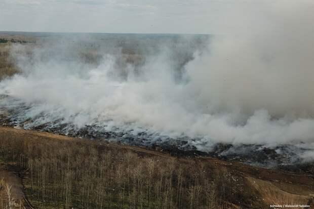 САХу нужно больше 11 млн рублей на тушение горящего мусорного полигона под Томском