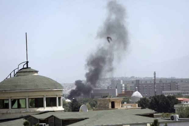 На фото: вид на комплекс зданий посольства США в Кабуле, откуда началась эвакуация сотрудников, 15 августа 2021 года.