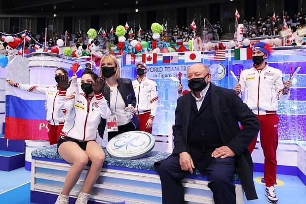 Что произошло после победы сборной России на командном чемпионате мира по фигурному катанию 2021