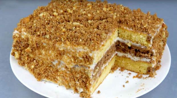 Рецепт вкуснейшего торта со сгущенкой за 30 минут