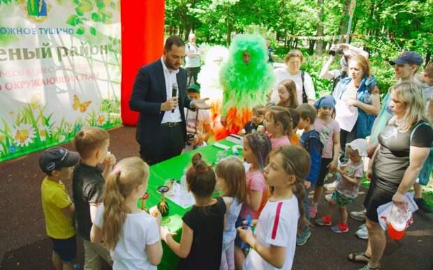 Ректор РХТУ Мажуга: экологические квесты учат заботиться о природе. Автор фото: Дмитрий Бубонец