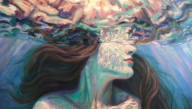 Девушки в воде: летние картины калифорнийской художницы Изабель Эмрих