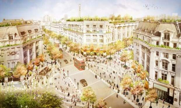 Oxford Circus превратится в пешеходную зону в этом году