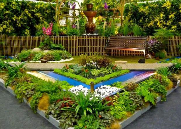 Идеи декоративного ограждения клумб и цветников