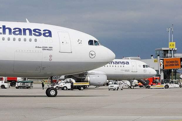 Lufthansa отменила авиарейсы из Москвы и Петербурга во Франкфурт