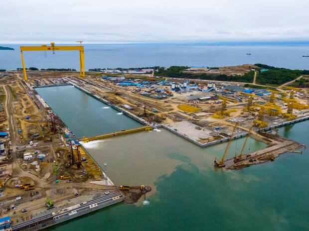 В России достраивают две новейшие верфи для крупнотоннажных судов водоизмещением до 400 000 тонн