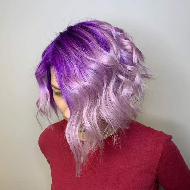 Балаяж на короткие волосы 2020: фото 11