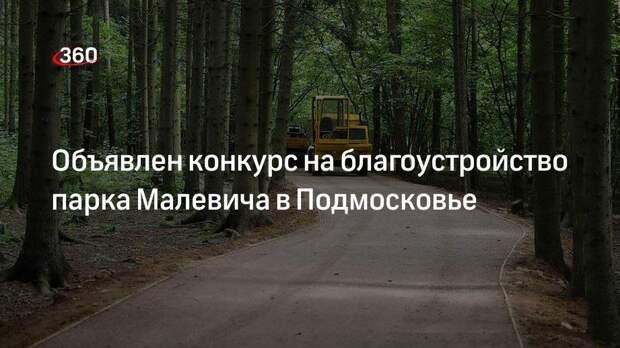 Правительство Подмосковья объявило конкурс на благоустройство парка Малевича в Одинцово