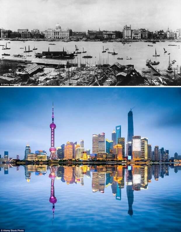 Города, которые очень изменились за последние 100 лет (14 фото)