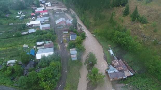 Ливни затопили город Нижние Серги на Урале