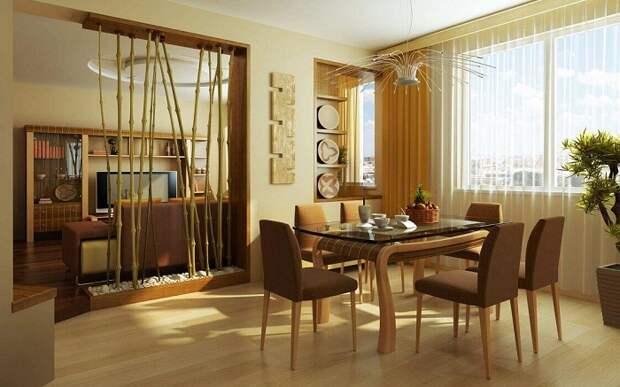 Стильный и необыкновенный интерьер создан благодаря оформлению в кофейных тонах, что создаст отличную обстановку в комнатах.