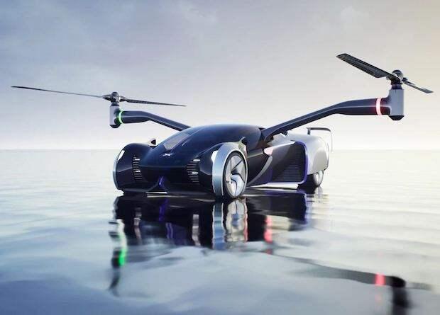 Китайцы показали концепт летающей машины со складными винтами...