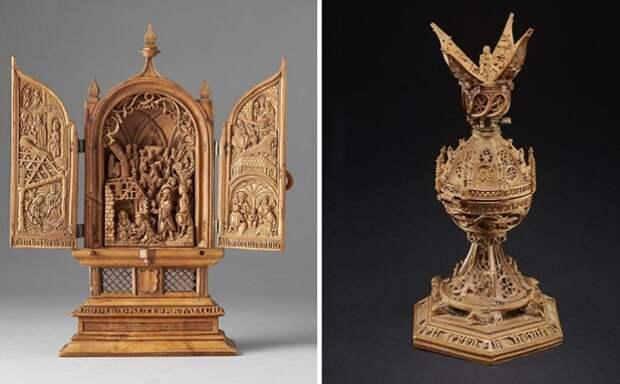 Невероятные резные миниатюры XVI века, некоторые детали которых видны только под микроскопом