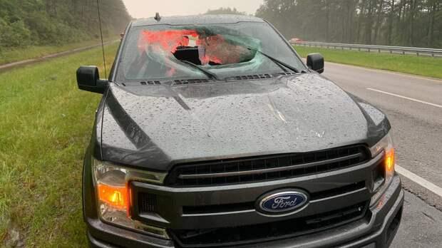 В США Ford F-150 повредила молния