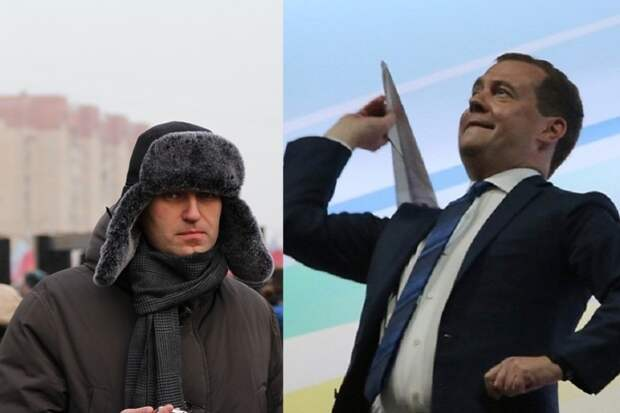 """Настоящие друзья: Медведев — """"онвамнеДимон"""" обругал Навального"""