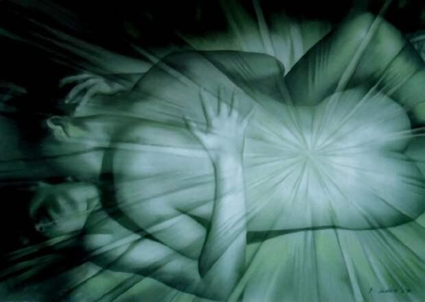 Столкновение и соприкосновение двух тел. Автор: Brita Seifert.