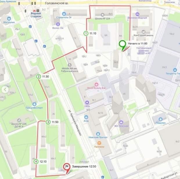 Стал известен новый маршрут субботнего обхода по Войковскому