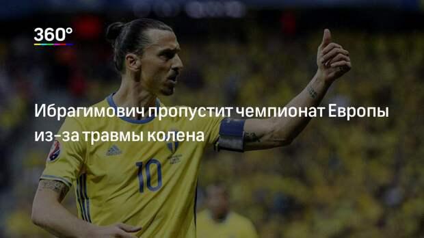 Ибрагимович пропустит чемпионат Европы из-за травмы колена
