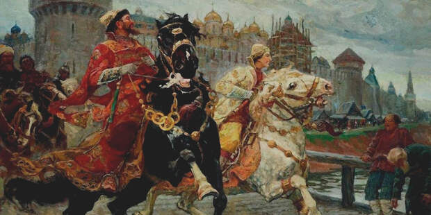 царевич Иван иванович на конной проулке с Иваном Грозным