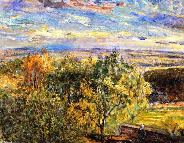 "Max-Slevogt. ""Pfalz Landschaft"".1923. Museum im Kulturspeicher (Germany)"