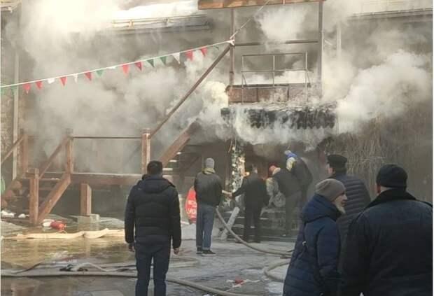 Измайловский кремль загорелся в Москве