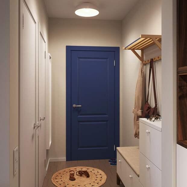 Покрасьте входную дверь в синий цвет. / Фото: Salon.ru