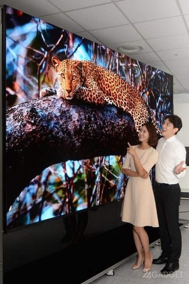 LG представил самый большой телевизор с диагональю 163 дюйма, технологией MicroLED и 4K (5 фото)
