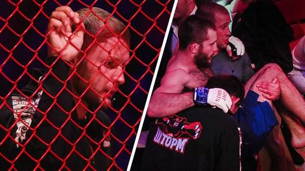 Ученика Шлеменко выносили изклетки, экс-боец UFC насмешил фанатов. ВМоскве прошел турнир поММА