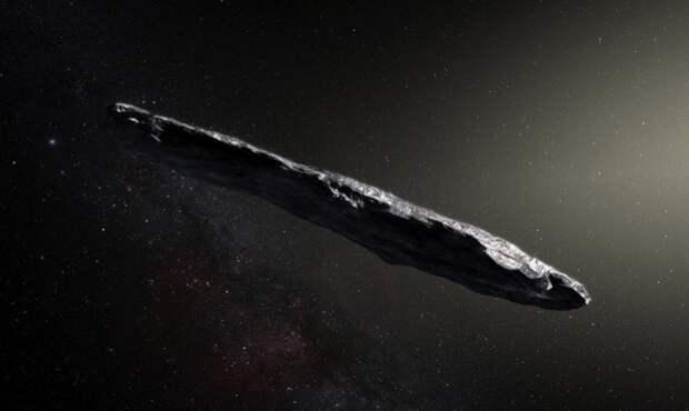Оумуамуа - уменьшенная копия инопланетного корабля, обнаруженного на Луне.