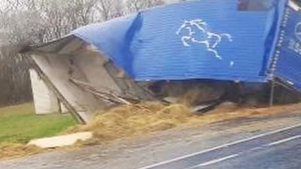 Три фуры столкнулись на трассе М‑5 в Самарской области