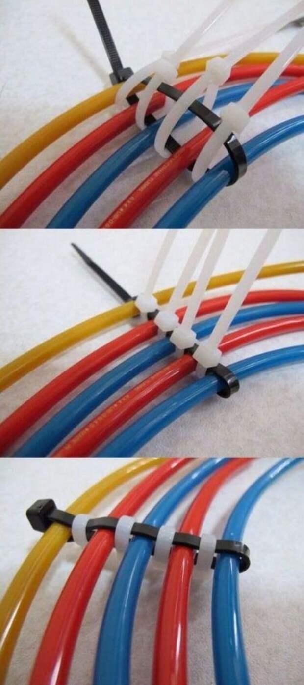 Разделение кабелей. Классное решение.