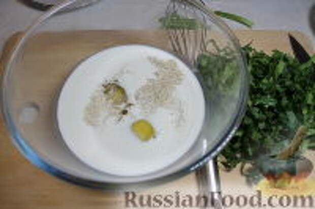 Фото приготовления рецепта: Запеканка из спагетти, со шпинатом и ветчиной - шаг №6
