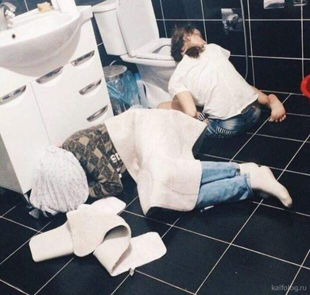 Адские приколы про пьяных (45 фото)
