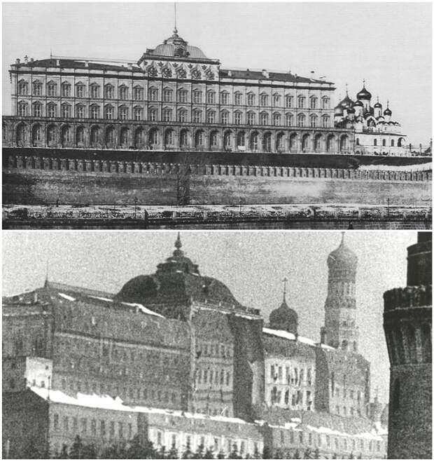 Большой Кремлевский Дворец до и после маскировки.   Фото: can-you-help.me.
