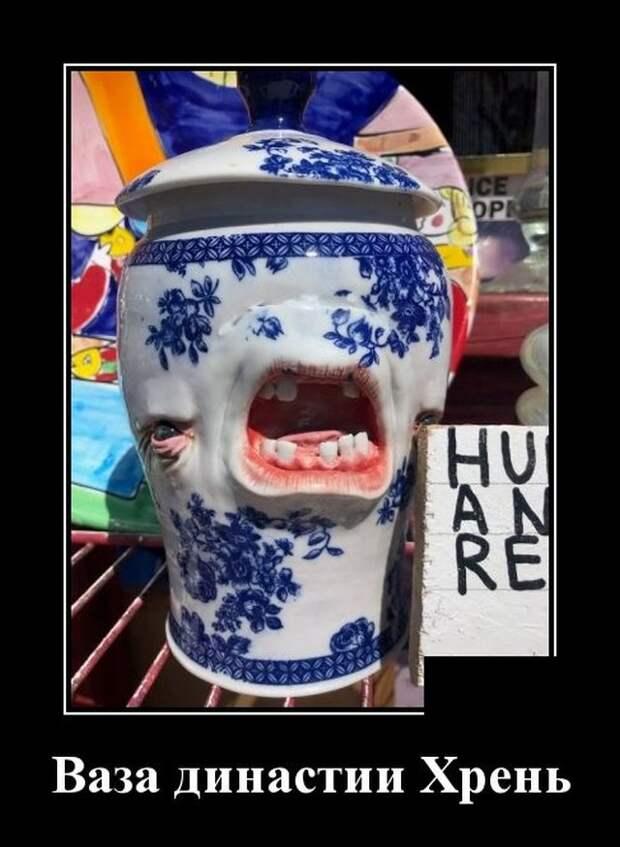 Демотиватор про вазу