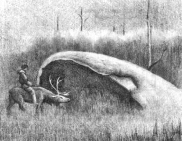 Рисунок Юрия Михайловского по рассказам старого кочевника.