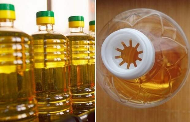 Для чего в горлышке бутылки подсолнечного масла странные прорези