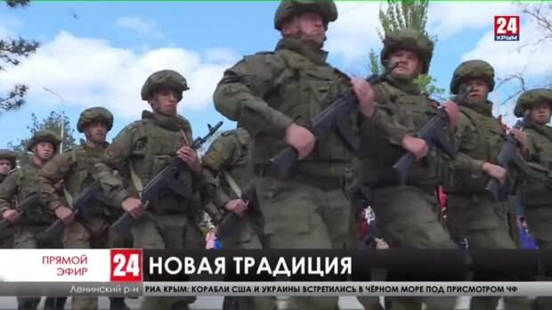 В Ленинском районе впервые провели Парад Победы