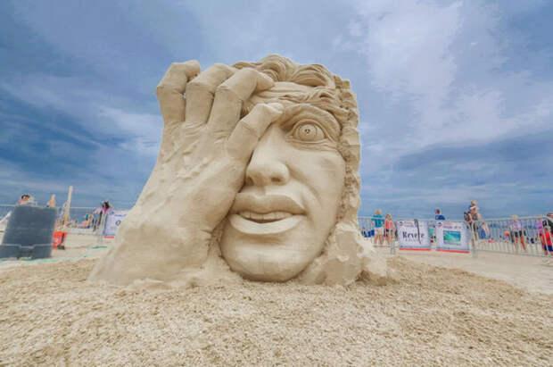 На выставке песчаной скульптуры. Мария Анфилохиева