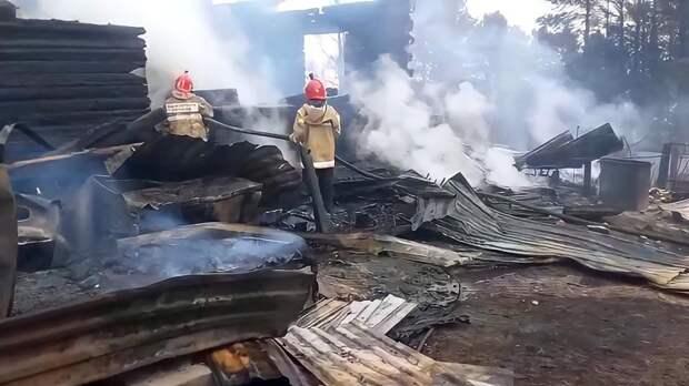 Загоревшаяся на площади в 2 га трава едва не уничтожила село в ХМАО