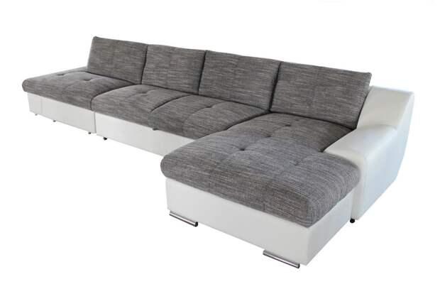 Купите диван с оттоманкой — добавьте пикантности в антураж комнат (26 фото)