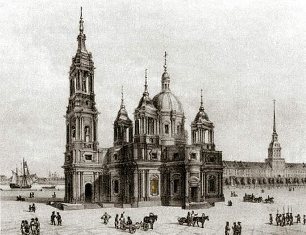 Первая Исаакиевская церковь Петербурга.