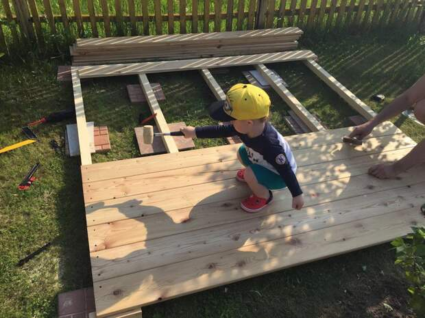 Детский домик на дачу со схемой