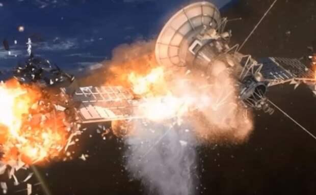 На земной орбите по неустановленной причине взорвались два спутника