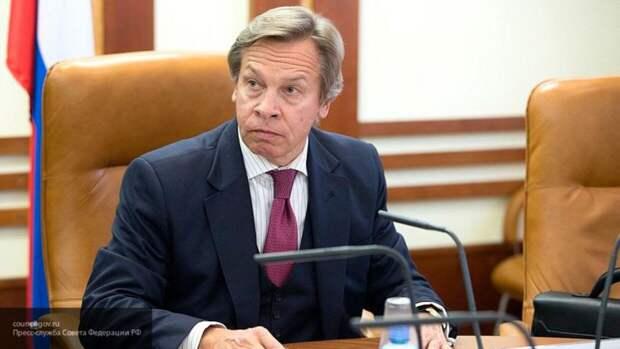 """Пушков назвал """"истеричной и болезненной"""" реакцию США на возрождение России"""