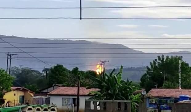 Теракт нагазопроводе вВенесуэле вызвал «огромный пожар» наобъектах PDVSA