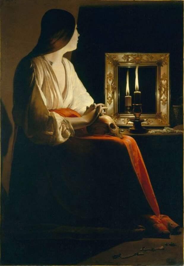 Картина Жоржа де Латура, Кающаяся Мария Магдалина.