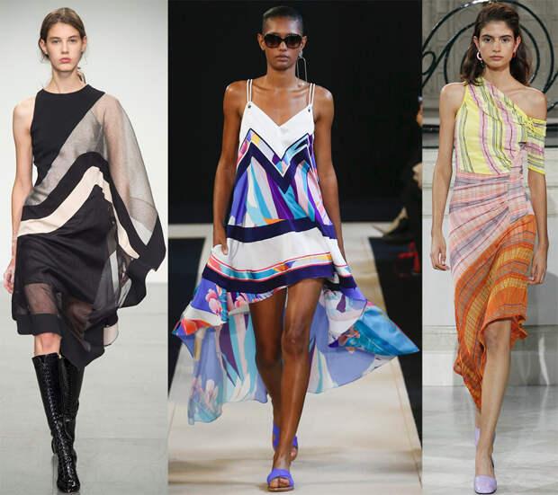 Платья из платков на весну и лето 2018